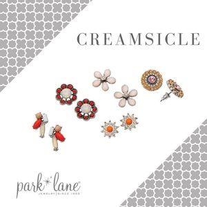 Park Lane Creamsicle Earring Set like new